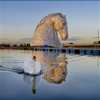Falkirk Wheel and the Kelpies